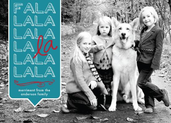 holiday photo cards - Fa La La La by linda-lou
