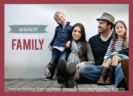 holiday photo cards - Season of Family by linda-lou