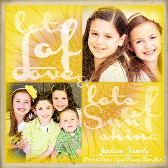 holiday photo cards - lots of love & lots of sunshine by Charu Tiwari