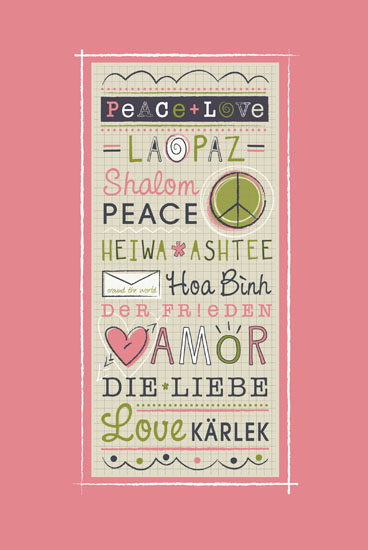 art prints - Peace + Love by Kimberly Schwede