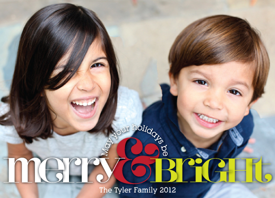 holiday photo cards - Merry Type by Artsy Canvas Girl Designs