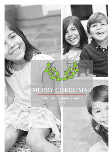 holiday photo cards - Modern Transparent Mistletoe by that girl Shelley