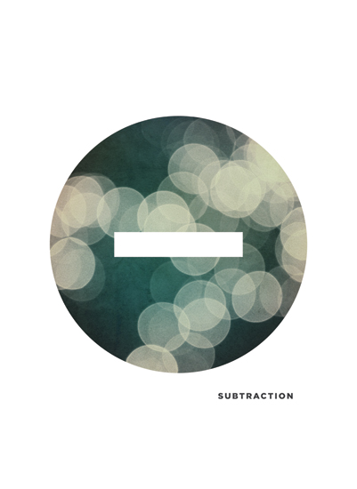 art prints - Bokeh Substraction by Waui Design