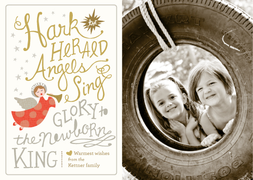 holiday photo cards - Angels Sing by Griffinbell Paper Co.