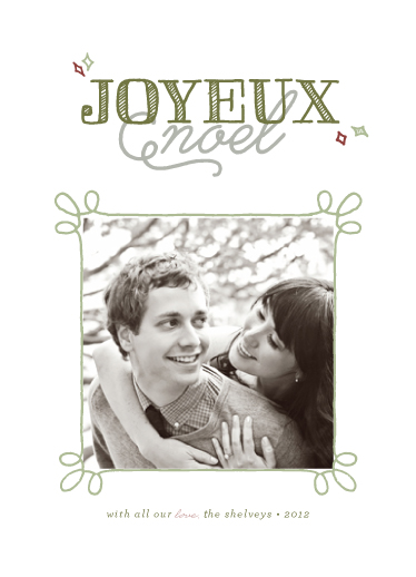 holiday photo cards - A Sketched Christmas by Samantha Venator