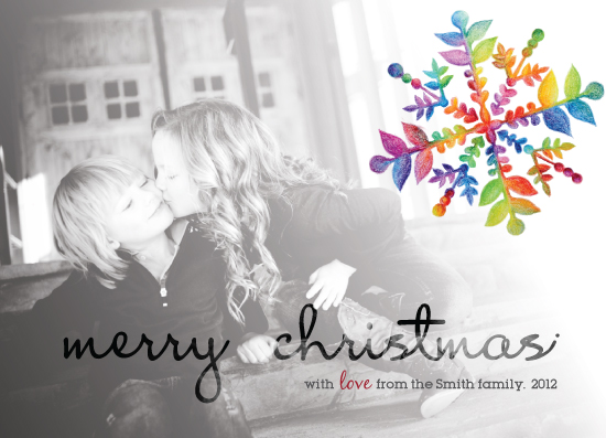 holiday photo cards - Snowflake Christmas by Duha