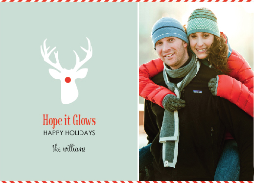 holiday photo cards - Hope it Glows by hobson studios