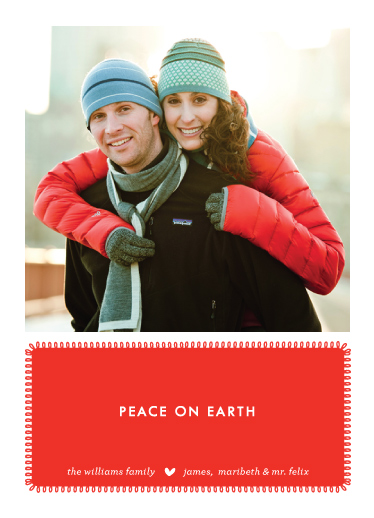 holiday photo cards - peace on earth by wendy fessler