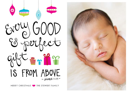 holiday photo cards - The Perfect Gift | James 1:17 by Winnie Jean