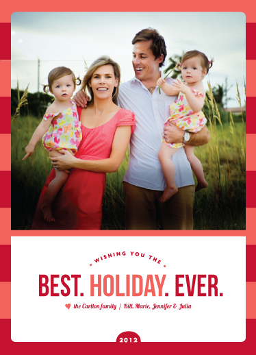 holiday photo cards - best. holiday. ever by wendy fessler