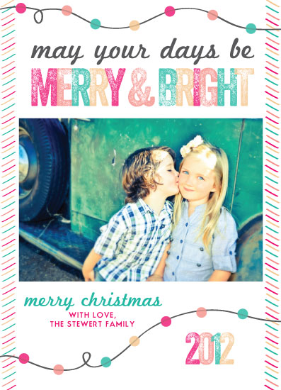 holiday photo cards - Merry & Bright by Winnie Jean