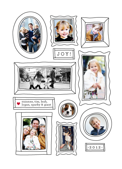 holiday photo cards - Mini Framed by Snow and Ivy
