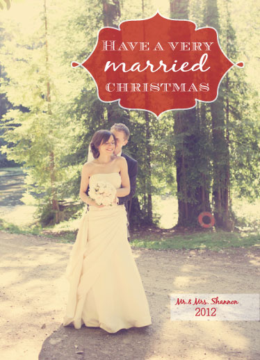 holiday photo cards - Wedded Bliss by Roseville Designs
