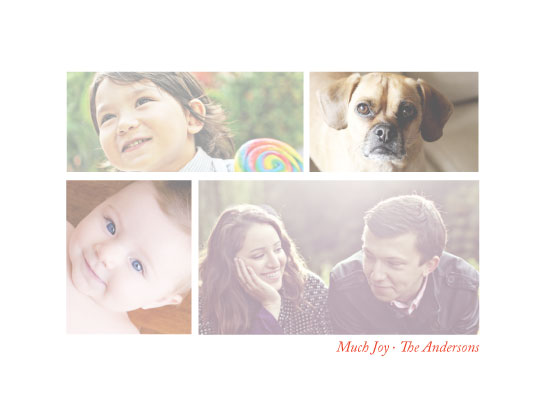 holiday photo cards - Much Joy by Bethany Anderson
