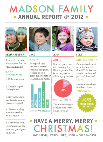 holiday photo cards - Annual Report by cambria