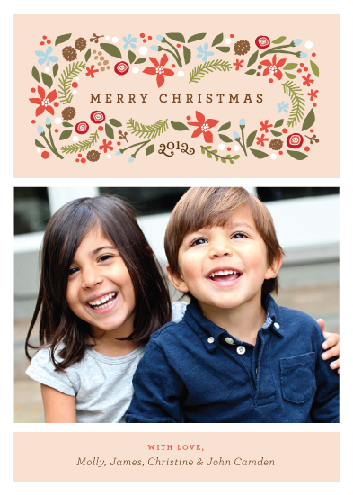 holiday photo cards - Blushing Christmas by Jennifer Wick