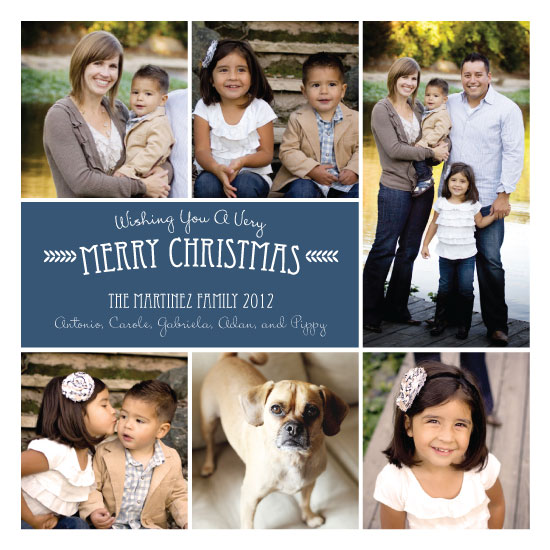 holiday photo cards - Merry Mosaic by Tickled Peach Studio
