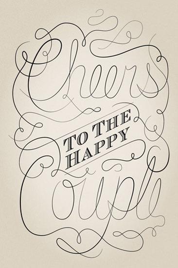 art prints - Cheers to the Happy Couple by Lisa Zizza McSweeney