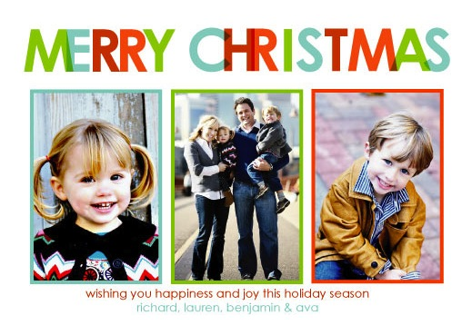 holiday photo cards - Multi-Colored Christmas by Robin Nathan
