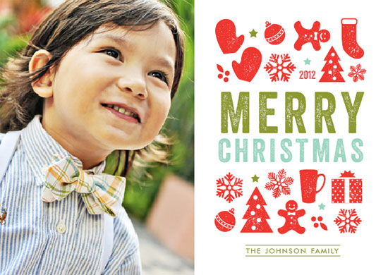 holiday photo cards - Christmas Dingbats by Cheer Up Press