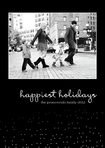 holiday photo cards - Simple Snow by The Paper Proposal