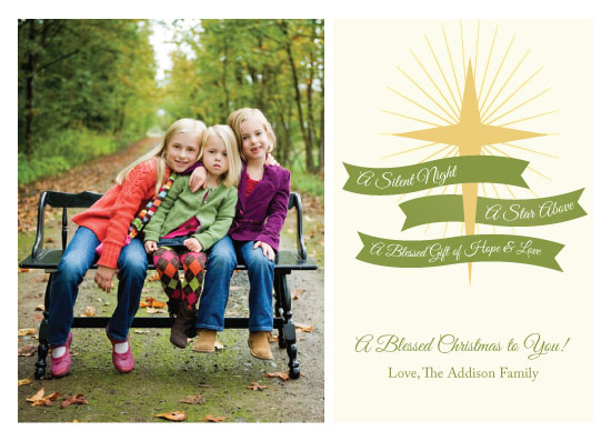 holiday photo cards - Star Above by Tickled Peach Studio