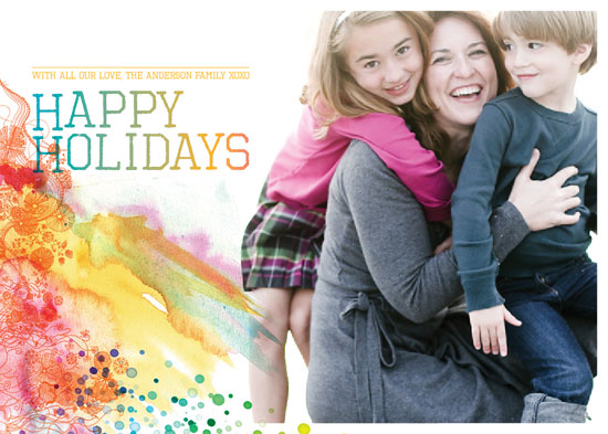holiday photo cards - At the end of the rainbow by Serena Lane