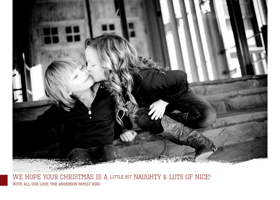 holiday photo cards - Naughty and Nice by Serena Lane