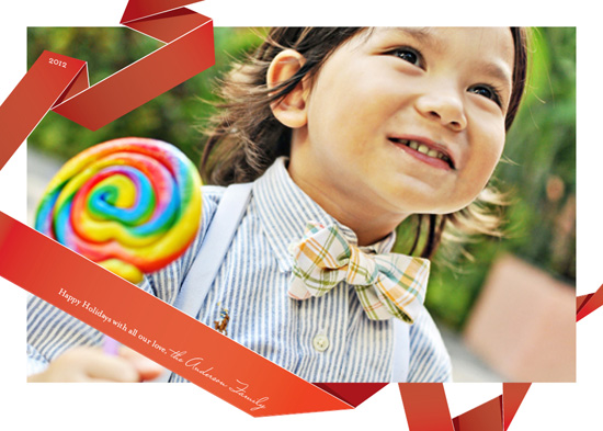 holiday photo cards - Red Ribbons by Serena Lane