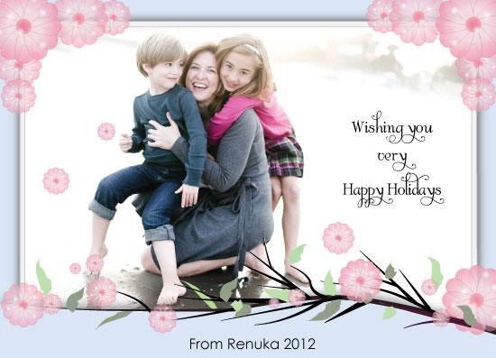 holiday photo cards - Cherry Blossom by Renuka