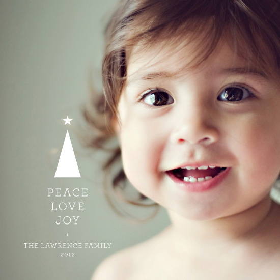 holiday photo cards - Peace • Love • Joy by Sook Lee