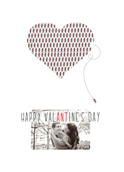 holiday photo cards - A very bitey Valentine's Day by Gabriel