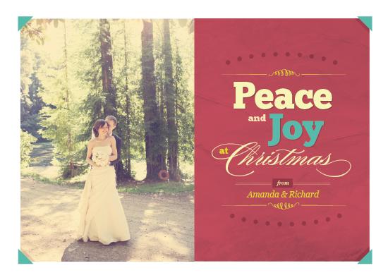holiday photo cards - fun colors for xmas by Ana Maria Villanueva