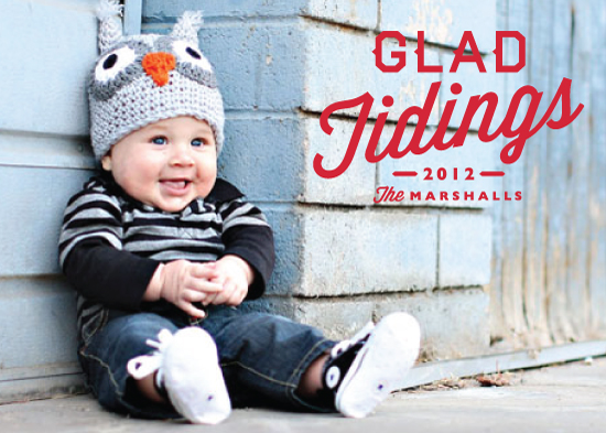 holiday photo cards - Glad Tidings by Alston Wise