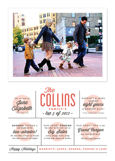 holiday photo cards - The Top Five by Alston Wise