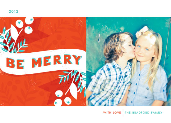 holiday photo cards - be merry berries by Angela Marzuki