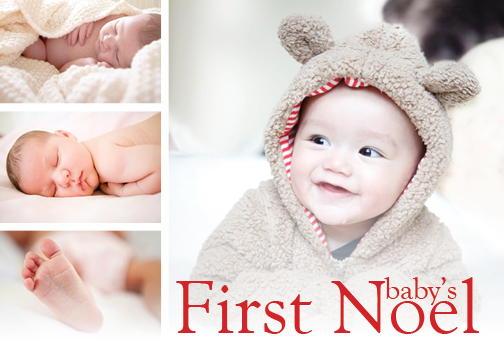 holiday photo cards - Baby's First Noel by Riata Brown