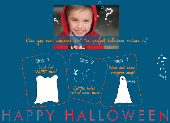 holiday photo cards - Happy Custu-ween by Gabriel