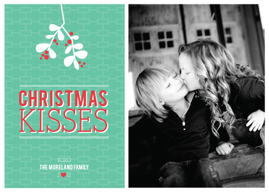 holiday photo cards - Christmas Kisses by Annette Allen