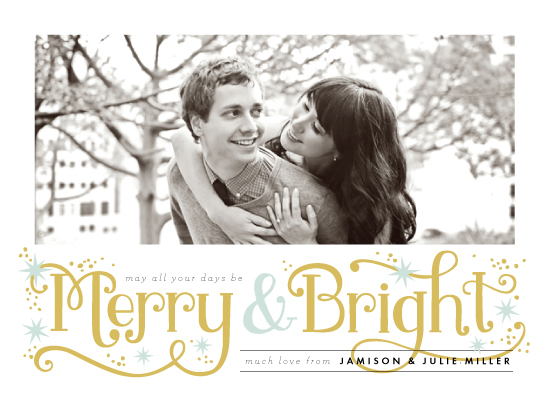 holiday photo cards - Merry and Bright Sparkles  by Alethea and Ruth