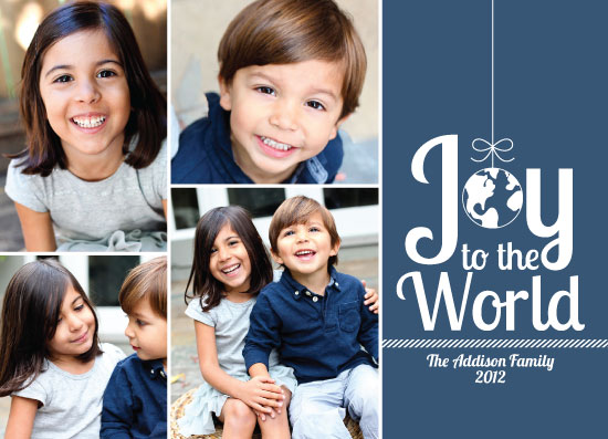 holiday photo cards - World On A String by Tickled Peach Studio