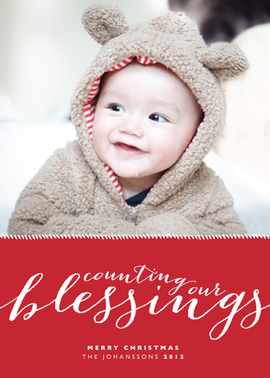 holiday photo cards - Counting Our Blessings by Alston Wise