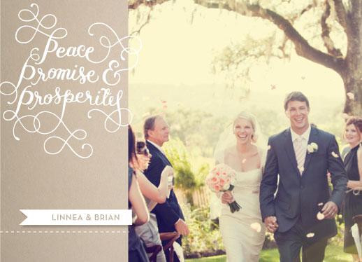 holiday photo cards - Peace, Promise & Prosperity by Jenna Blazevich