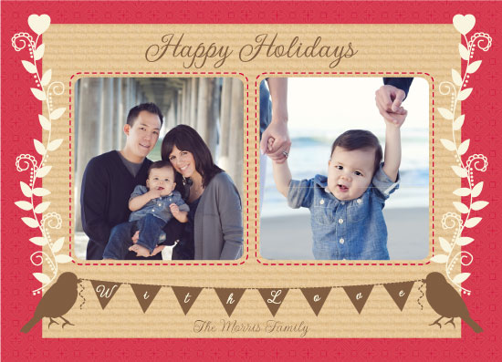 holiday photo cards - HappyHolidayTweetings by Leanne Carpentier