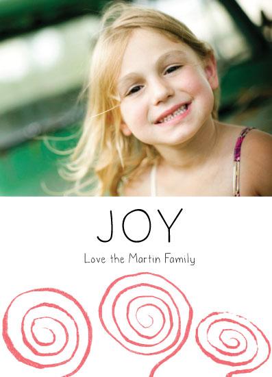 holiday photo cards - Joy Striped Swirls by Gaucho Works