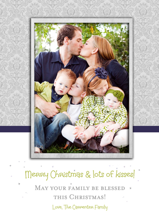 holiday photo cards - Lots of kisses by The Picture Portal