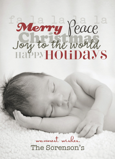 holiday photo cards - The sweetest words by Artsy Canvas Girl Designs