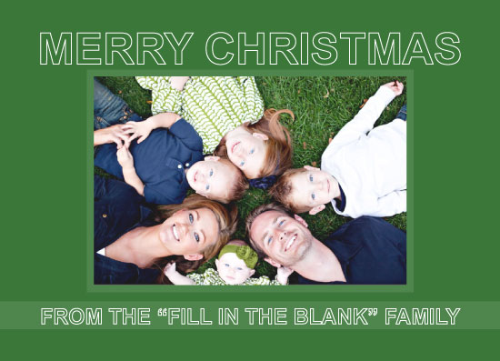 holiday photo cards - Green Merry Christmas by Iget2design2day