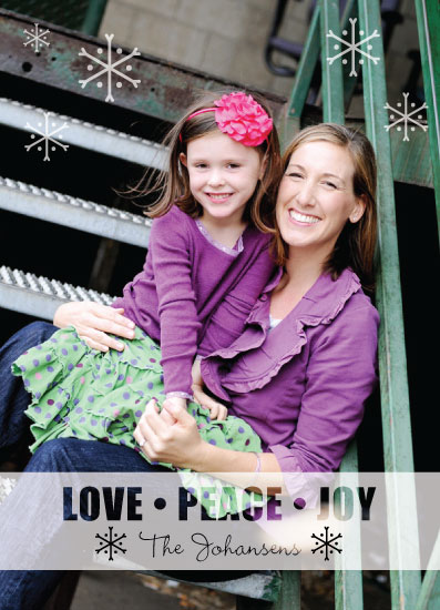 holiday photo cards - transparent snowflakes by Emily - Fresh Paper Studios