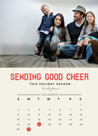 holiday photo cards - Holiday Calendar by chica design